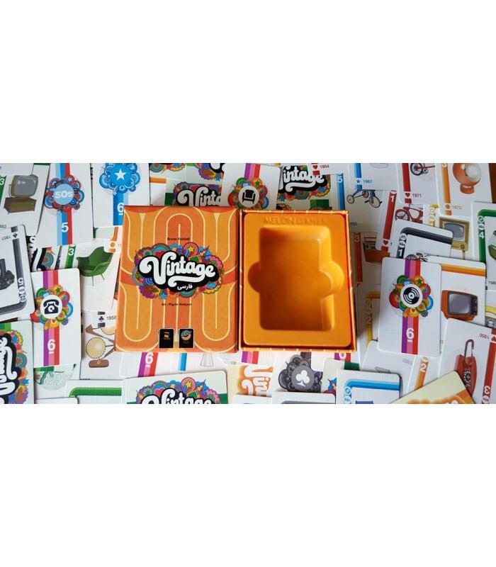 جعبه باز شده بازی وینتیج vintage نسخه ایرانی