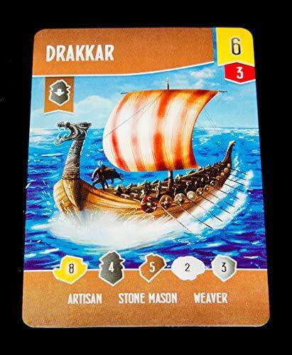 نمونه کارت بازی فکری Shipwrights of the North Sea