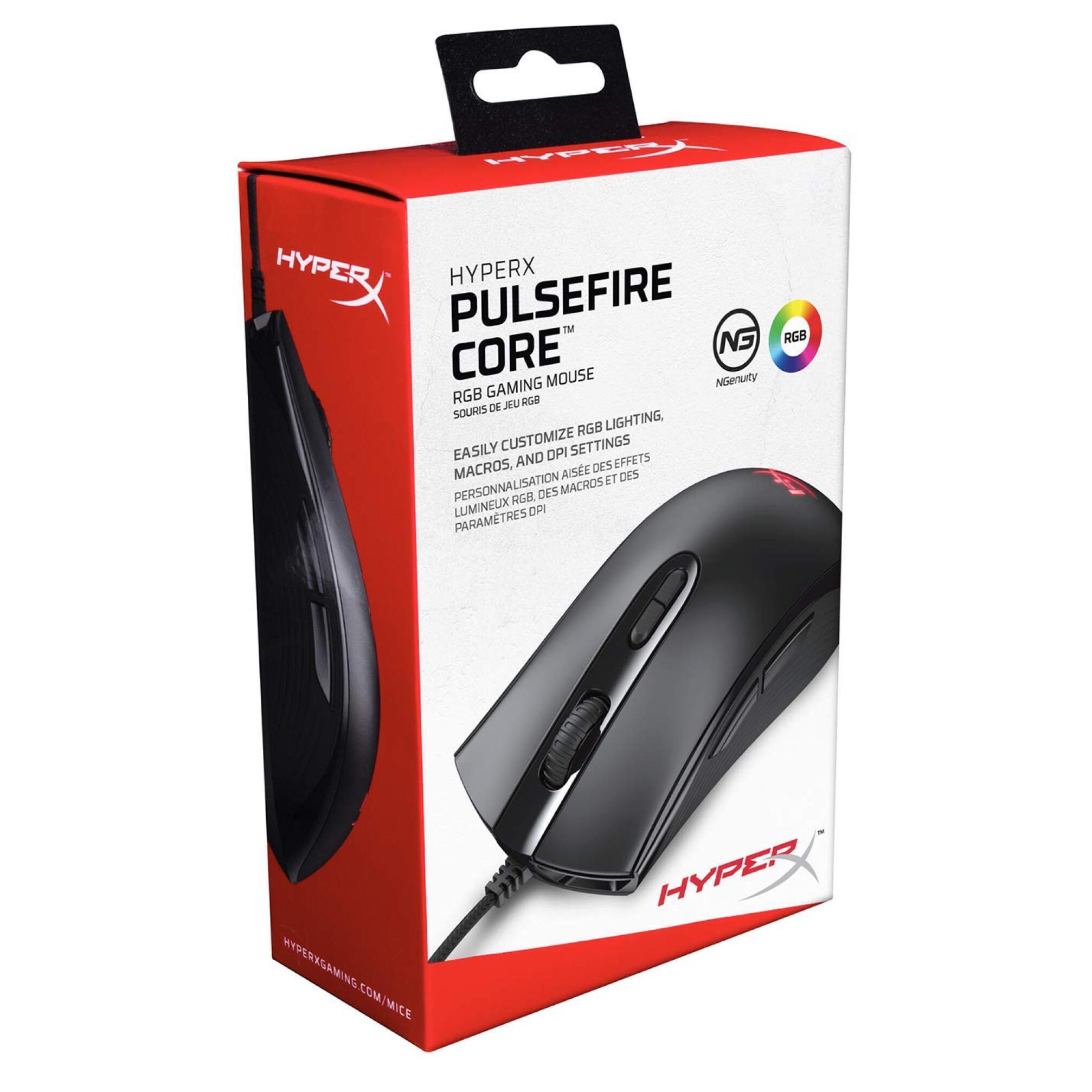 جعبه ماوس گیمینگ HyperX مدل Pulsefire Core RGB Black