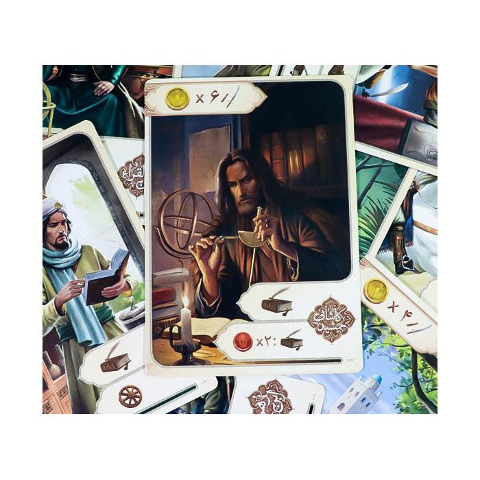 کارت دانشمندان بازی belaad land swords and quills